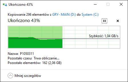 Zdjęcia z partycji WD na WD - 4 GB
